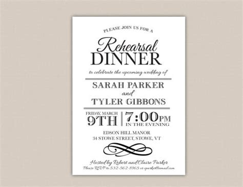 Free Rehearsal Dinner Invitations Printables