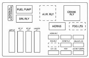 Chevrolet Monte Carlo  2001 - 2003  - Fuse Box Diagram