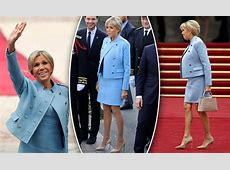 Emmanuel Macron's wife Brigitte channels Melania Trump at
