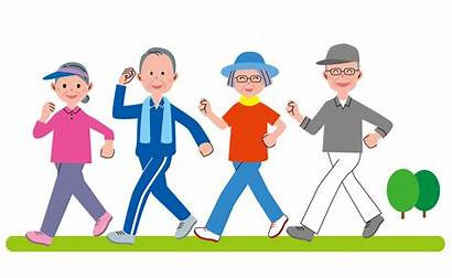 Walking Club Clipart Senior Walk Walks Terms