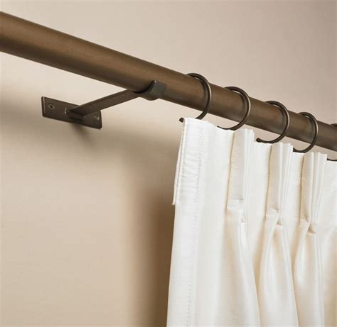 cool drapery rods design interior modern curtain rod