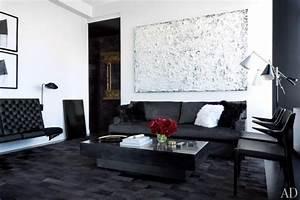 salon noir et blanc les meilleures idees pour votre With tapis champ de fleurs avec canapé blanc et gris