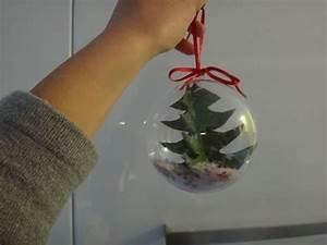 Boule De Noel A Fabriquer : fabriquer une boule de no l sapin transparente youtube ~ Nature-et-papiers.com Idées de Décoration