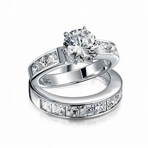 Ring Set Silber : sterling silver 2ct round cz princess engagement wedding ring set ~ Eleganceandgraceweddings.com Haus und Dekorationen