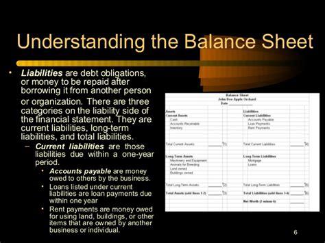 understanding balance sheets flow income statements farm econo