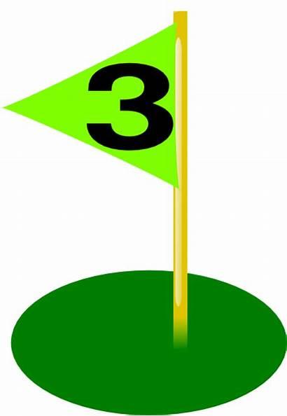 Golf Hole Flag Number Bolder 3rd Clip