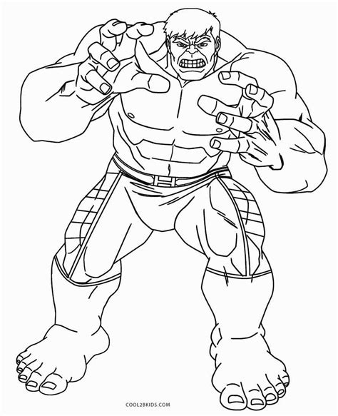 printable hulk coloring pages  kids coolbkids