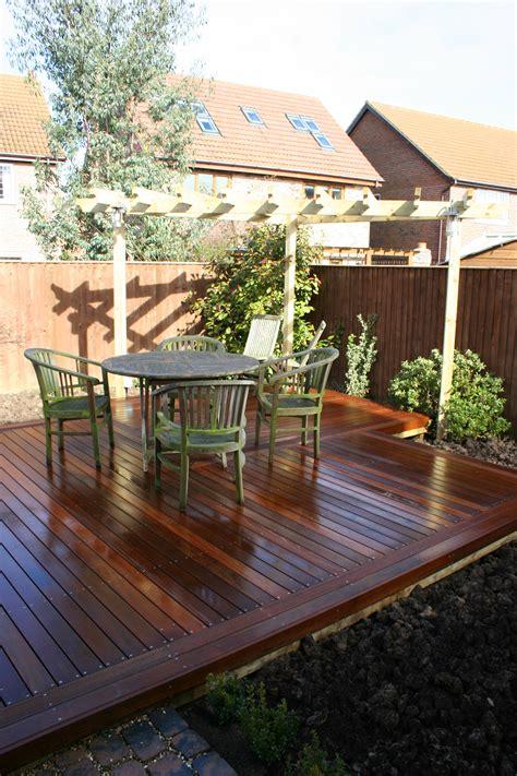 small garden decking