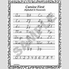 Cursive First, An Introduction To Cursive Penmanship