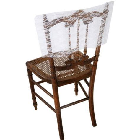 housse de chaise dossier rond housse dossier de chaise dentelle blanche les 2 déco de