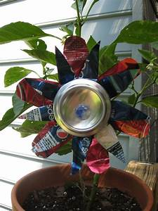 soda can flower family crafts