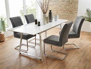 Esstisch Stühle Weiß : tischgruppe esstisch armin wei hochglanz 4 st hle fabio ~ Michelbontemps.com Haus und Dekorationen
