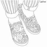 Coloring Shoes Pages Adult Cool Books Sneakers Colouring sketch template