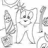 Coloring Dentist Dental Sheets Printables Visitar sketch template