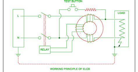 Earth Leakage Circuit Breaker Wiring Diagram by Elcb Or Working Of Elcb Or Residual Circuit Breaker Rcb