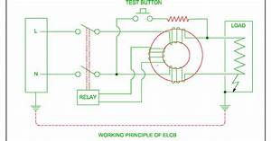 Elcb Or Working Of Elcb Or Residual Circuit Breaker   Rcb