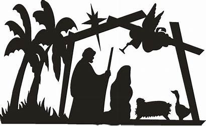 Nativity Christmas Merry Clipart Clipartpanda Silhouette Scene