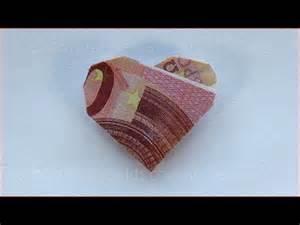 hochzeitsgeschenk originell geldscheine falten herz