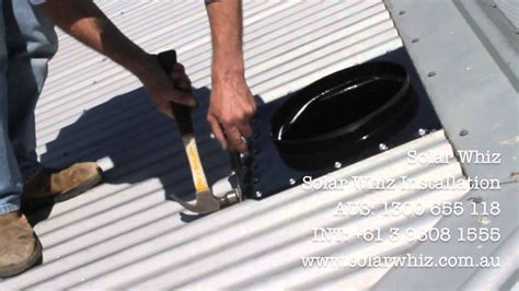 solar whiz installation demo   metal roof youtube