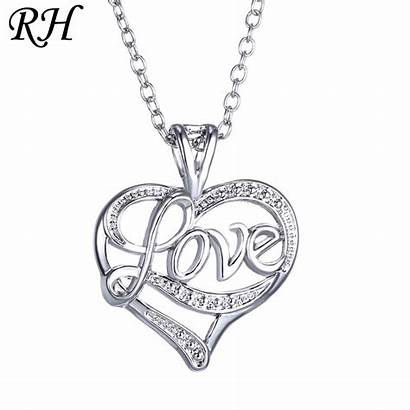 Necklace Heart Valentine Jewelry Girlfriend Gift Crystal