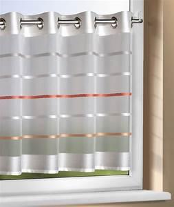 Sichtschutz Stoff Mit Ösen : scheibengardine semi voile halbtransparent stoff mit sen orange ol v a scheibengardinen ~ Eleganceandgraceweddings.com Haus und Dekorationen
