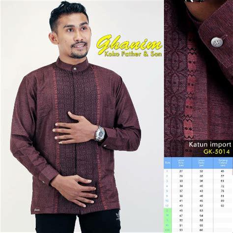 Baju Muslim Koko Pria Ayah Anak jual baju koko anak koko ayah anak koko gk 5014l di