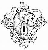Heart Keys Lock Koyasan Deviantart Key Drawing Coloring Pages Tattoo Locks Skull Designs Corazon Template Llave Drawings Colouring Adult Sketch sketch template