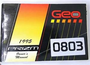 1995 95 Geo Prizm Factory Owners Owner U0026 39 S Manual Guide Book