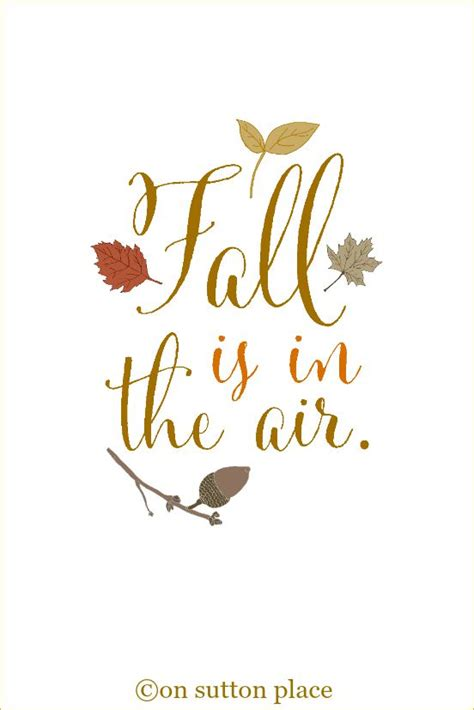10 More Fall Printables  On Sutton Place