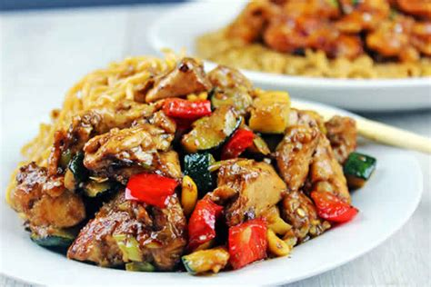poulet aux courgette  poivron cookeo recette cookeo