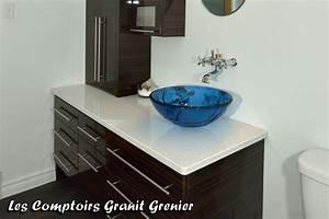 pin by les comptoirs granit grenier on comptoirs de salles With photo de salle de bain