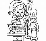Elf Shelf Drawing Coloring Pages Christmas Clipartmag sketch template