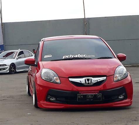 Modifikasi Mobil Brio by Modifikasi Mobil Ceper Brio Merah Keren Owner Ido Pang