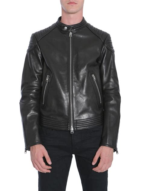 tom ford leather lyst tom ford leather biker jacket in black for