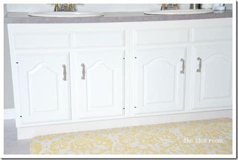 updating builder grade bathroom cabinets  idea room