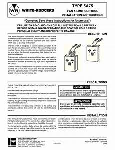 White Rodgers 5a75 Installation Instructions Manual Pdf