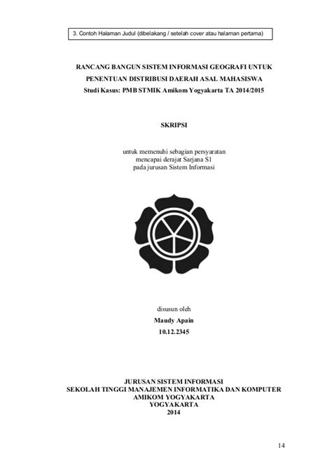 Contoh Judul Jurnal Penelitian - Gontoh