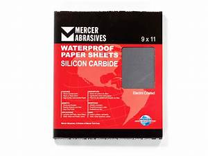 SILICON CARBIDE - 9 X 11 WATERPROOF PAPER SHEETS - Mercer