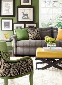 Gray Green Living Room Color Scheme
