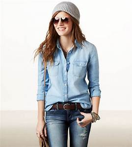 AE Chambray Shirt | American Eagle Outfitters