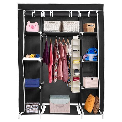Cloth Storage Wardrobe by 67 Quot Portable Closet Storage Colthes Shelves Fabric
