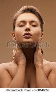 Stock s of beautiful woman bright closeup portrait