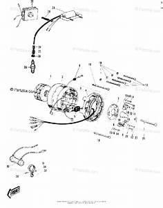 Kawasaki Motorcycle 1968 Oem Parts Diagram For Ignition  Generator  Rectifier