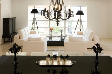 Black And White Chandelier Bedding by 21 Beautiful Symmetrical Living Rooms House Decorators