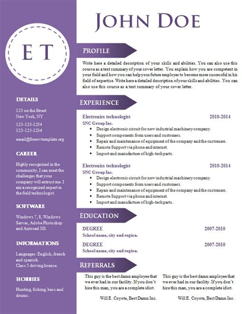 free cv resume template 740 746 free cv template dot org