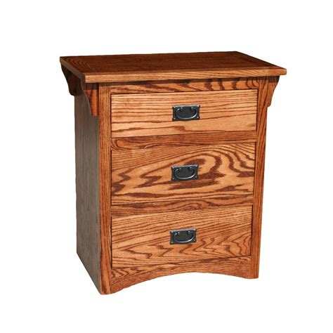 Oak Nightstand With Drawers by Od O M450 Mission Oak 3 Drawer Nightstand
