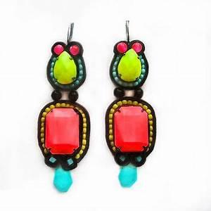 ALIEN soutache earrings in black neon from Black Market