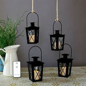 Lanterns, Votives, Candle, Remote, Led, Battery, Flameless, Patio, Glass, Outdoor, Indoor