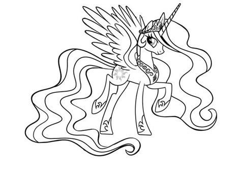 Celestia Kleurplaat My Pony by My Pony Princess Celestia Coloring Page Coloring Sky