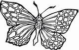 Butterfly Coloring Butterflies Pages Adult Printable Drawings Odd Dr sketch template